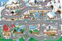 Dětský hrací koberec Zasněžené město 80 x 120 cm