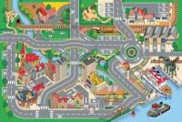 Dětský hrací koberec Město s přístavem 100 x 150 cm