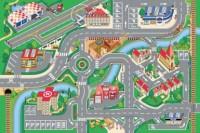 Dětský hrací koberec Město s letištěm 100 x 150 cm