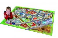 Dětský hrací koberec Město s letištěm 3D 100 x 150 cm