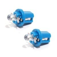 Žárovka 1LED 12V B8,5d modrá 2ks