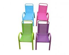 HAPPY GREEN Dětská zahradní židle stohovatelná assort barev modrá, zelená, růžová, fialová