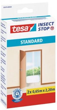 Síť proti hmyzu Tesa STANDARD na suchý zip do balkonových dveří bílá 2x0,65x2,2 m