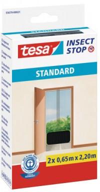 Síť proti hmyzu Tesa STANDARD na suchý zip do balkonových dveří antracit 2x0,65x2,2 m
