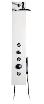 Sprchový panel ECO GLASS s baterií 210x1250mm ultra čiré sklo a hliník