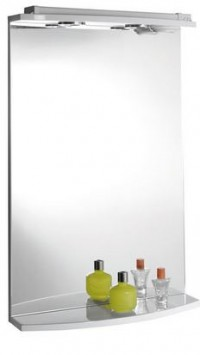 Zrcadlo KORIN s halogenovým osvětlením 60x70x15 cm