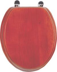 WC sedátko AQUALINE dřevěné třešeň