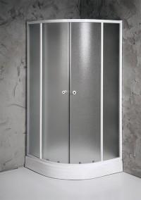 Čtvrtkruhová sprchová zástěna AMICA 800x800mm matné sklo