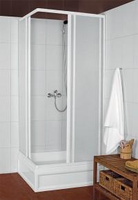 Čtvercová sprchová zástěna KNS 900x900mm bílý profil
