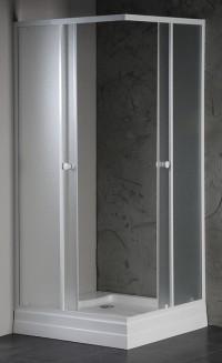 Čtvercová sprchová zástěna AMANDA 900x900mm matné sklo