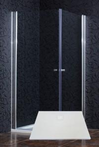 Čtvercový sprchový kout AIR 90 clear NEW s vaničkou FREE