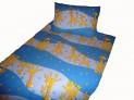 Obliečky bavlna do postieľky - Žirafa modrá 1x 90 / 130 , 1x 45 / 60