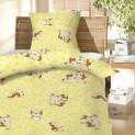 Obliečky bavlna do postieľky - Šteňa žlté 1x 90 / 130 + 1x 60 / 45