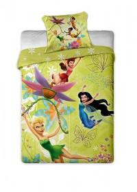 Povlečení mikrovlákno Disney - Fairies yellow 1x 140/200, 1x 90/70
