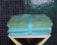 Froté utěrky - 8 dílná sada zelená, tyrkysová