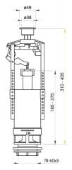 Ventil vypouštěcí WC stop A2000/A05 4480017
