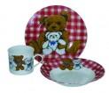 Souprava dětská 3 díly medvídci červená 4050034