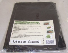 Textilie netkaná 1,6x5 m černá 4310010