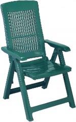 Křeslo polohovací Tampa zelené 4730150