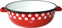 Mísa smalt 16 cm dekor červený puntík 2060038