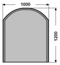 Kalené sklo - zaoblený obdelník - 6 mm - kouřová šedá
