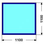 Kalené sklo - čtverec - 6 mm