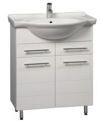 Koupelnová skříňka s umyvadlem Stripe 65 V
