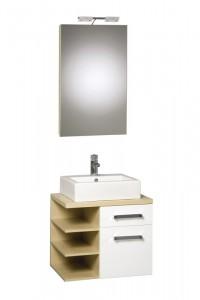 Koupelnová skříňka s umyvadlem Sguare 65 PQ