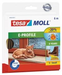 Okenní a dveřní těsnění Economy guma TESA E profil 6 m x 9 mm x 4 mm hnědá 05463-123