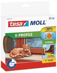 Okenní a dveřní těsnění Economy guma TESA E profil 25 m x 9 mm x 4 mm hnědá 05464-103