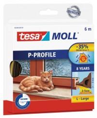 Okenní a dveřní těsnění Economy guma TESA P profil 6 m x 9 mm x 5,5 mm hnědá 05390-13