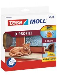 Okenní a dveřní těsnění Economy guma TESA D profil 25 m x 9 mm x 7 mm hnědá 05389