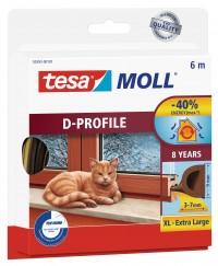 Okenní a dveřní těsnění Economy guma TESA D profil 6 m x 9 mm x 8 mm hnědá 05393-103