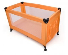 CALME Postýlka cestovní skládací 120 x 60 x 73 cm, oranžová