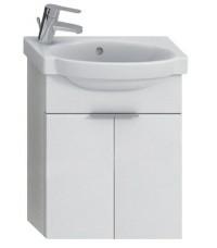 Skříňka s umývátkem 45 cm JIKA TIGO otvor pro baterii vlevo creme-bílá 4.5510.2.021.991.1