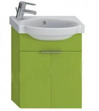 Skříňka s umývátkem 45 cm JIKA TIGO otvor pro baterii vlevo zelená 4.5510.2.021.156.1