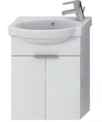 Skříňka s umývátkem 45 cm JIKA TIGO otvor pro baterii vpravo bílá 4.5510.3.021.500.1
