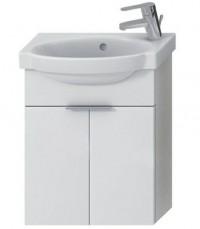 Skříňka s umývátkem 45 cm JIKA TIGO otvor pro baterii vpravo creme-bílá 4.5510.3.021.991.1