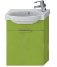 Skříňka s umývátkem 45 cm JIKA TIGO otvor pro baterii vpravo zelená 4.5510.3.021.156.1