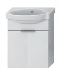 Skříňka s umývátkem 45 cm JIKA TIGO bez otvoru pro baterii bílá 4.5510.4.021.500.1