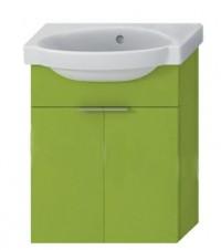 Skříňka s umývátkem 45 cm JIKA TIGO bez otvoru pro baterii zelená 4.5510.4.021.156.1