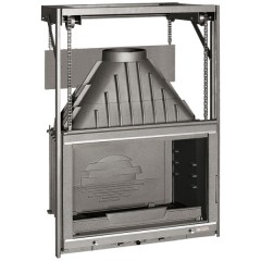 Krbová vložka LAUDEL 700 GRANDE VISION - horní otevírání, stříbrné lišty ref. 6876-56SL HSF13-069