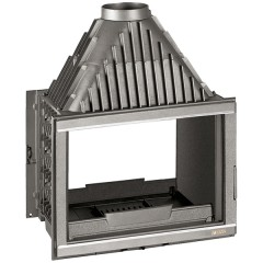 Krbová vložka LAUDEL 800 GRANDE VISION - oboustranné prosklení stříbrné lišty ref. 6282-56SL HSF13-081