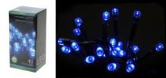 Světla vánoční 40 LED modrá vnitřní i venkovní 4261070
