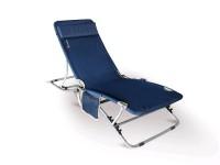 Polohovatelné lehátko Beach černé/modré
