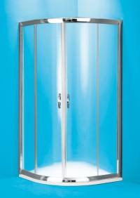 Čtvrtkruhový sprchový kout Barcelona 90 x 90 x 190 cm sklo čiré bez vaničky
