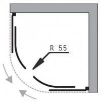 Čtvrtkruhový sprchový kout Madrid 90 x 90 x 185 cm sklo matné včetně vaničky