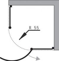 Čtvrtkruhový sprchový kout Malaga II 90 x 90 x 195 cm sklo čiré včetně vaničky