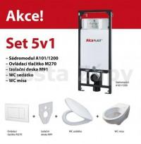Set závěsného WC a instalačního modulu Alcaplast 5v1 sádrokarton