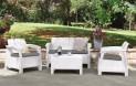 Záhradný set CORFU white + grey Allibert 204294